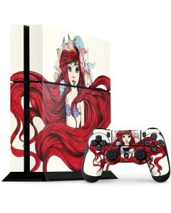 Ariel Illustration PS4 Console and Controller Bundle Skin