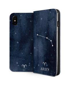 Aries Constellation iPhone XS Folio Case