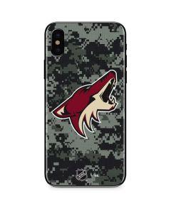 Arizona Coyotes Camo iPhone XS Skin