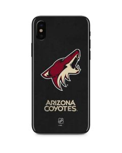 Arizona Coyotes Distressed iPhone XS Skin