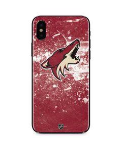 Arizona Coyotes Frozen iPhone XS Skin
