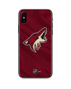 Arizona Coyotes Home Jersey iPhone XS Skin