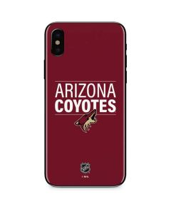 Arizona Coyotes Lineup iPhone XS Skin
