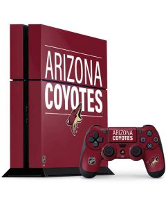 Arizona Coyotes Lineup PS4 Console and Controller Bundle Skin
