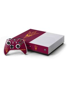 Arizona State Pitchfork Xbox One S Console and Controller Bundle Skin