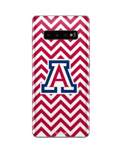 Arizona Wildcats Chevron Print Galaxy S10 Plus Skin