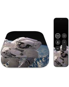 Artists Concept of an Astronaut Floating in Outer Space Apple TV Skin