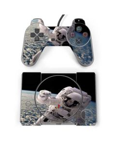 Artists Concept of an Astronaut Floating in Outer Space PlayStation Classic Bundle Skin