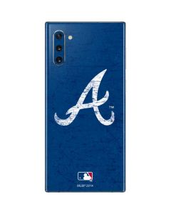 Atlanta Braves - Solid Distressed Galaxy Note 10 Skin