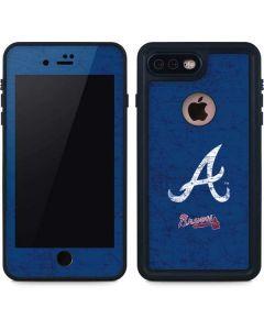 Atlanta Braves - Solid Distressed iPhone 7 Plus Waterproof Case
