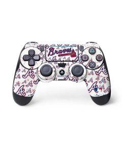 Atlanta Braves - White Primary Logo Blast PS4 Pro/Slim Controller Skin