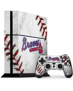 Atlanta Braves Game Ball PS4 Console and Controller Bundle Skin