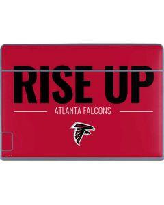 Atlanta Falcons Team Motto Galaxy Book Keyboard Folio 12in Skin