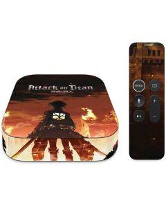 Attack On Titan Fire Apple TV Skin