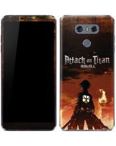 Attack On Titan Fire LG G6 Skin