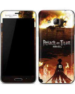 Attack On Titan Fire Galaxy J3 Skin