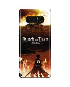 Attack On Titan Fire Galaxy Note 8 Skin