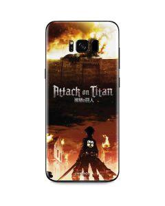 Attack On Titan Fire Galaxy S8 Plus Skin