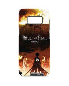 Attack On Titan Fire Galaxy S8 Pro Case