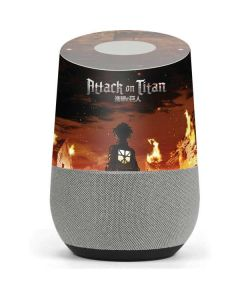 Attack On Titan Fire Google Home Skin