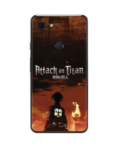 Attack On Titan Fire Google Pixel 3 XL Skin