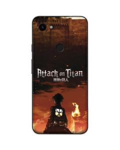 Attack On Titan Fire Google Pixel 3a Skin