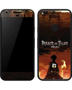 Attack On Titan Fire Google Pixel Skin