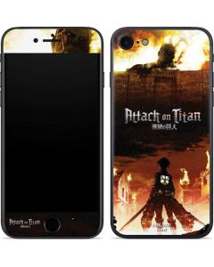 Attack On Titan Fire iPhone 7 Skin