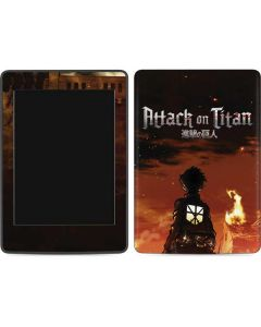 Attack On Titan Fire Amazon Kindle Skin