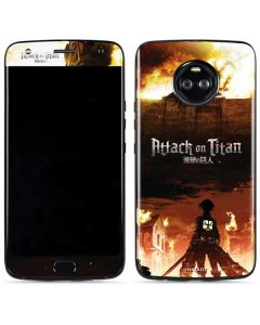 Attack On Titan Fire Moto X4 Skin