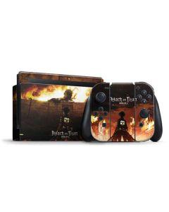 Attack On Titan Fire Nintendo Switch Bundle Skin