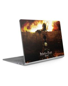 Attack On Titan Fire Surface Book 2 13.5in Skin