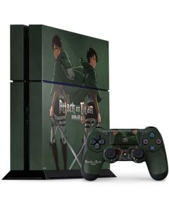 Attack On Titan Logo PS4 Console and Controller Bundle Skin