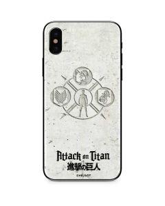 Attack On Titan Wall iPhone XS Max Skin
