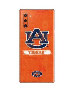 Auburn Distressed Logo Galaxy Note 10 Skin