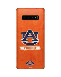 Auburn Distressed Logo Galaxy S10 Plus Skin