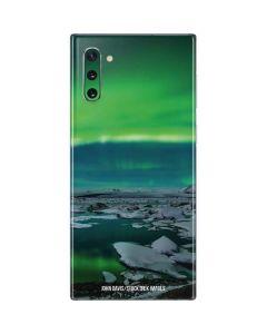 Aurora Borealis Over The Glacial Lagoon Jokulsarlon in Iceland Galaxy Note 10 Skin