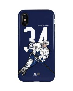 Auston Matthews #34 Action Sketch iPhone XS Pro Case