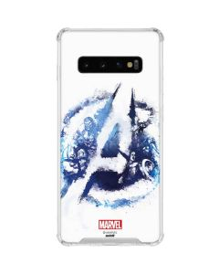 Avengers Blue Logo Galaxy S10 Clear Case