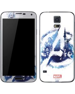 Avengers Blue Logo Galaxy S5 Skin