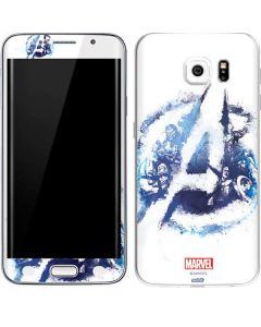 Avengers Blue Logo Galaxy S6 Edge Skin