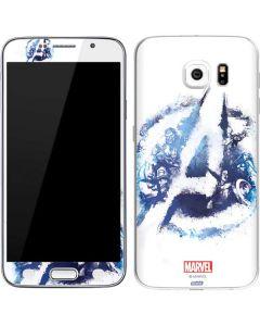 Avengers Blue Logo Galaxy S6 Skin