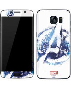 Avengers Blue Logo Galaxy S7 Skin