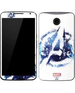 Avengers Blue Logo Google Nexus 6 Skin