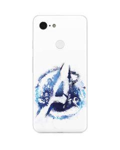 Avengers Blue Logo Google Pixel 3 Skin