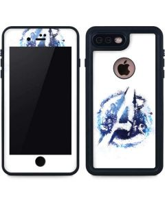 Avengers Blue Logo iPhone 7 Plus Waterproof Case
