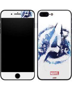 Avengers Blue Logo iPhone 8 Plus Skin