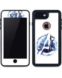 Avengers Blue Logo iPhone 8 Plus Waterproof Case