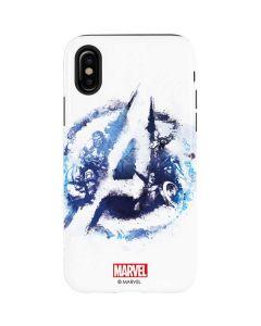 Avengers Blue Logo iPhone X Pro Case