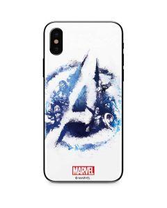 Avengers Blue Logo iPhone X Skin